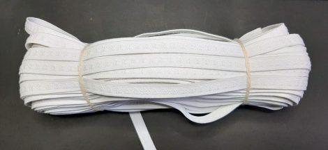Gumiszalag 12 mm, fehér, mintás, 75 Ft/méter (50 méteres)