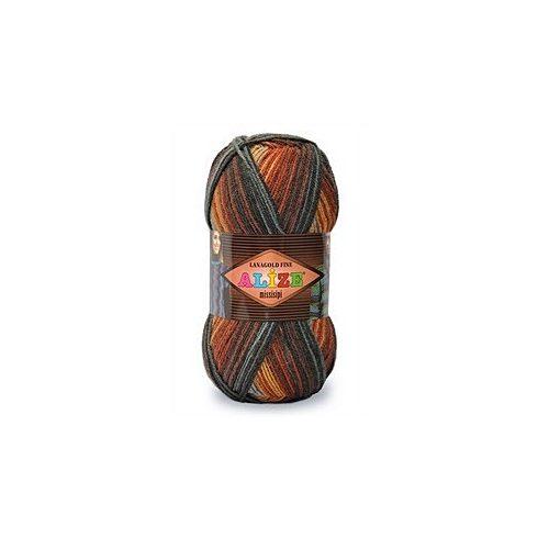 Lanagold Fine Missisipi kitűnő fonal férfiaknak, 100 gr/390 mt. 49% gyapjú - 51% akril, 1050 Ft/100 gr, (10500 Ft/1Kg) (5X100gr)