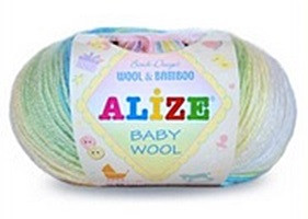 Baby Wool Batik gyerekfonal, 50gr/175 méter, 40% gyapjú - 20% Bambusz - 40% akril  715 Ft/50gr. (14300 Ft/1kg) (5x50gr)