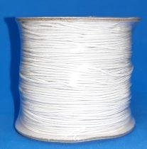 Gumizsinór 1 mm, kalapgumi hengeres, fehér, 100 %-os nyúlás. 40 Ft/m 100 m/orsó