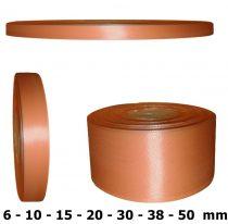 Szatén szalag barack színű 6 mm - 50 mm 30 méter/kiszerelés