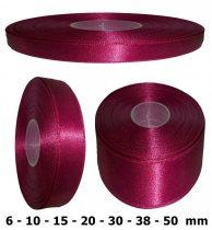 Szatén szalag bordó színű 6 mm - 50 mm 30 méter/kiszerelés