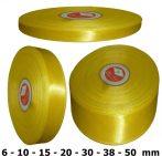 Szatén szalag citromsárga 6 mm - 50 mm 30 méter/kiszerelés
