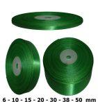 Szatén szalag fűzöld 6 mm - 50 mm 30 méter/kiszerelés