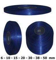 Szatén szalag királykék színű 6 mm - 50 mm 30 méter/kiszerelés