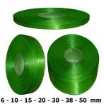 Szatén szalag középzöld színű 6 mm - 50 mm 30 méter/kiszerelés