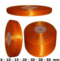 Szatén szalag narancssárga 6 mm - 50 mm 30 méter/kiszerelés