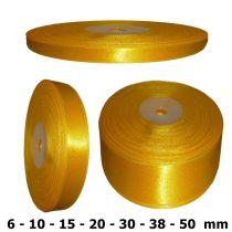 Szatén szalag napsárga színű 6 mm - 50 mm 30 méter/kiszerelés