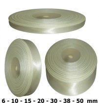 Szatén szalag nyers (világos krém)  6 mm - 50 mm 30 méter/kiszerelés