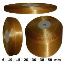 Szatén szalag óarany (sötét) 6 mm - 50 mm 30 méter/kiszerelés