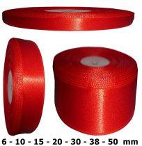 Szatén szalag piros 6 mm - 50 mm 30 méter/kiszerelés