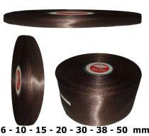 Szatén szalag sötétbarna (étcsoki) 6 mm - 50 mm 30 méter/kiszerelés