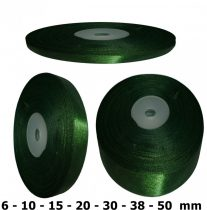 Szatén szalag sötétzöld 6 mm - 50 mm 30 méter/kiszerelés