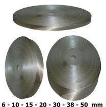 Szatén szalag szürke (ezüstszürke) 6 mm - 50 mm 30 méter/kiszerelés