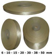 Szatén szalag világosdrapp 6 mm - 50 mm 30 méter/kiszerelés