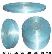Szatén szalag világoskék, babakék 6 mm - 50 mm 30 méter/kiszerelés