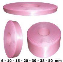 Szatén szalag világosrózsaszín (babarózsaszín) 6 mm - 50 mm 30 méter/kiszerelés
