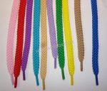 Mix színes lapos cipőfűzők vegyesen, 110 cm. 285 Ft/pár (10 pár/vegyes szín)