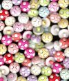 Színes labda gyermek-gomb hátul varró vegyesen  13,5 mm, 30 Ft/ db (100db/cs)