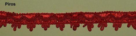 Cakkos szegő szalag, piros 25 mm, 320 Ft/m  ( 25 m)