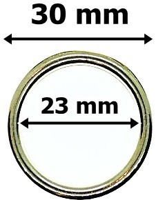 Karika arany színű, műanyag, 30 mm 40 Ft / db (10 db/Cs)