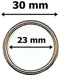 Karika rosegold színű, műanyag, 30mm 40 Ft / db (10 db/Cs)