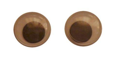 Gombszem mozgó pupillával, ragasztható,  8 mm, 20 Ft/db  (50 db = 25 pár)