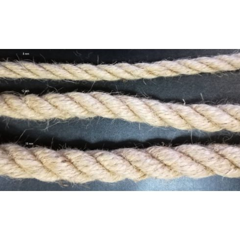 Sodrott juta kötél 12 mm ( 10 méteres)