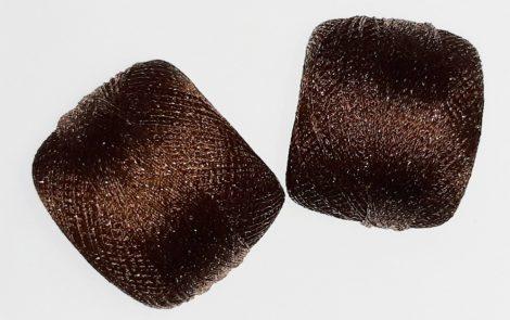 Atlas horgolócérna sötétbarna LUREX, 50-es, 20 gr, 400 Ft/orsó ( 1db-tól)