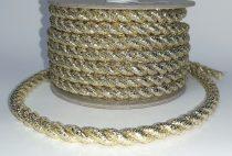 Arany zsinór sodrott  8 mm-es, lurex. 455 Ft/m.  (10 méteres )