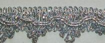 Cakkos ezüst lurex szegő szalag, 28 mm, 475 Ft/m