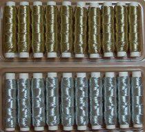 Arany vagy ezüst cérna gépi vagy kézi hímzéshez, Titolo, 599 Ft/db