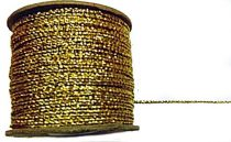 Arany zsinór lurexes sodrott, 1 mm-es  ( 2/1-es)  75 Ft/m (50 méter)