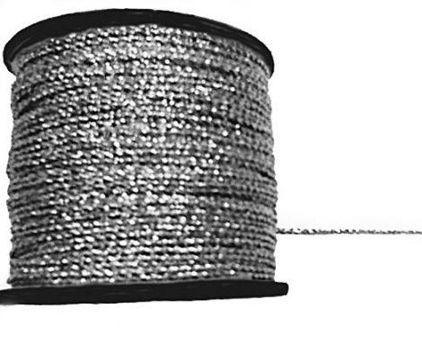 Ezüst zsinór sodrott, 1 mm-es  ( 2/1-es)  75 Ft/m (50 méter)