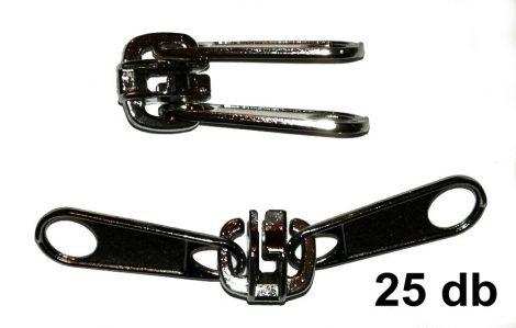 Sátorcipzárkocsi. Belső és külső oldalon húzható. Ezüst színű. RT10-hez. 80 Ft/db ( 25 db/csomag)