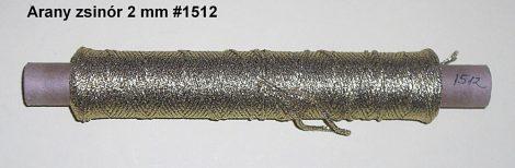Ezüst zsinór lurex 2,5 mm-es szövött, 84 Ft/m  (1512) ( 100 méteres)