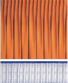 Függöny behúzó szalag, 1:2  ceruzás 20 mm-es, fehér, 2020S 120 Ft/m ( 200 méteres!)