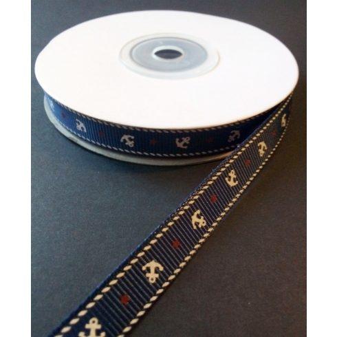 Textilszalag 10 mm kék alapon fehér horog 130 Ft/m (22,5m)