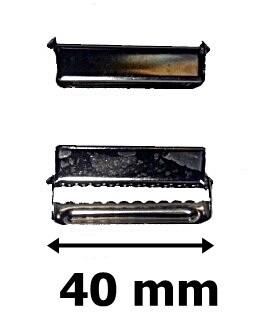 Nadrágtartó szabályozó, szorító 40 mm.  150 Ft/db (25 db/cs)