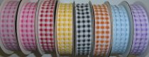 Kétoldalas, pepita kockás szalag, több színben, 20 mm, 180 Ft/m ( 10 m)