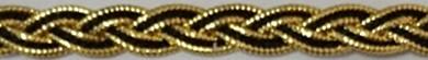Arany-fekete színű díszítő szalag 7 mm 190 Ft/m (20m)