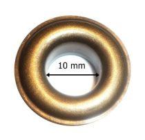 Ringli karika vas alapú, ezüst és antikolt színben, 10 mm-es,  ömlesztett, 22 Ft/pár ( 100 pár/cs)