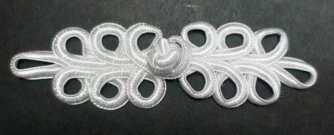 Kész paszomány gomboló 12 cm, fehér   220 Ft / pár