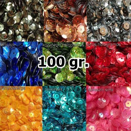 Darabos tányéros flitter 8 mm, többféle színben, 100 gr/csomag  2480 Ft /cs.