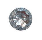 Dekorációs gomb 21 mm, csiszolt strasszhatású műanyag , kétlyukú átvarrós. 30 Ft/db ( 20 db-tól)