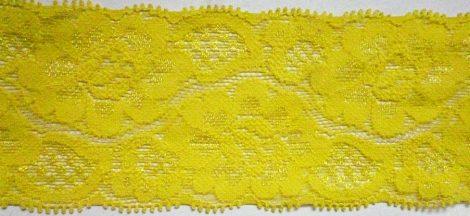 Rugalmas csipke, 50 mm, sárga színű  400 Ft/méter