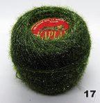 Horgolócérna fenyőzöld lurexes, csillogó, szőrös. 20 gr/gombolyag. 400 Ft/db