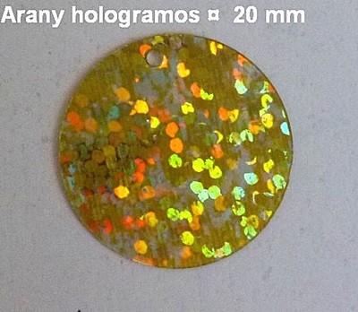 Tallérok 20 mm, sima és hologramos, többféle színben, 100 gr/cs ~ 800 db . 2480  Ft/csomag