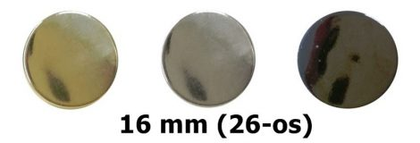 Lapos gombok (patent gomb) 26-os (16 mm) 3 féle színben 40 Ft / db