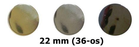 Lapos gombok (patent gomb) 36-os (22 mm) 3 féle színben 50 Ft / db